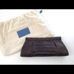 Nancy Gonzalez Crocodile Clutch Handbag